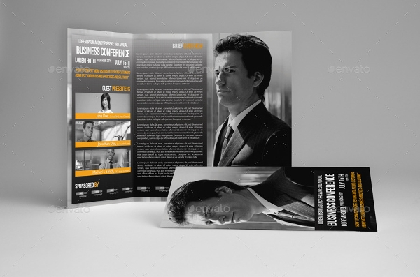trifold business conference brochure template