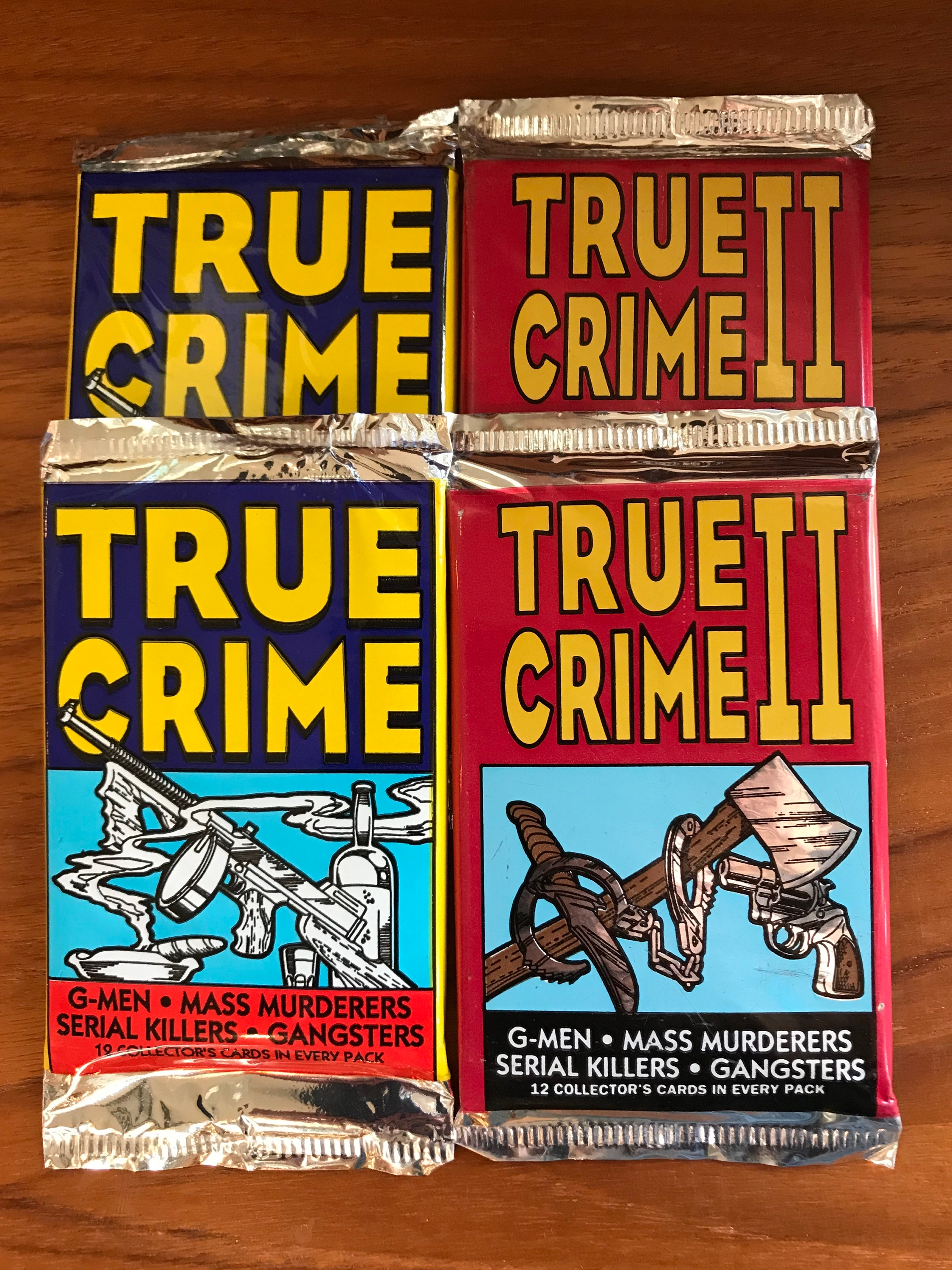 true crime mobster trading card example