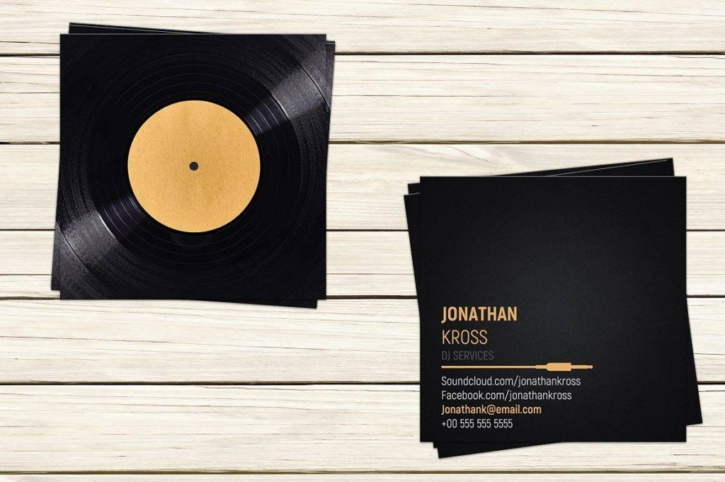 turntable dj business card