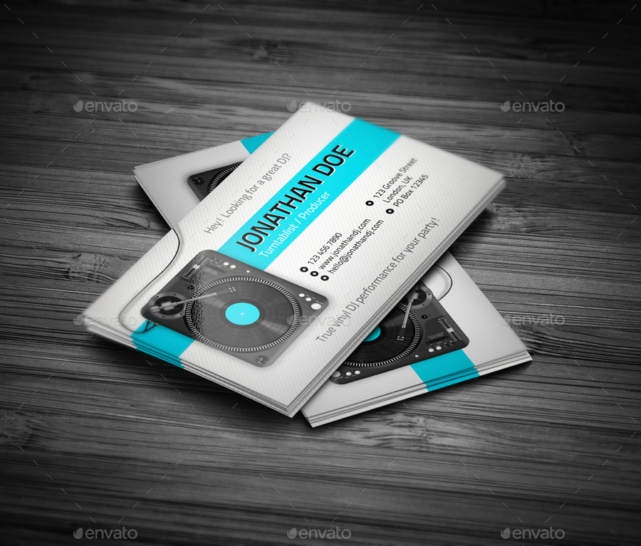 turntablist and producer dj business card