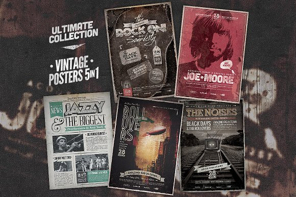 ultimate vintage poster bundle example1