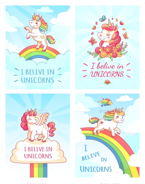 unicorn baby greeting card example