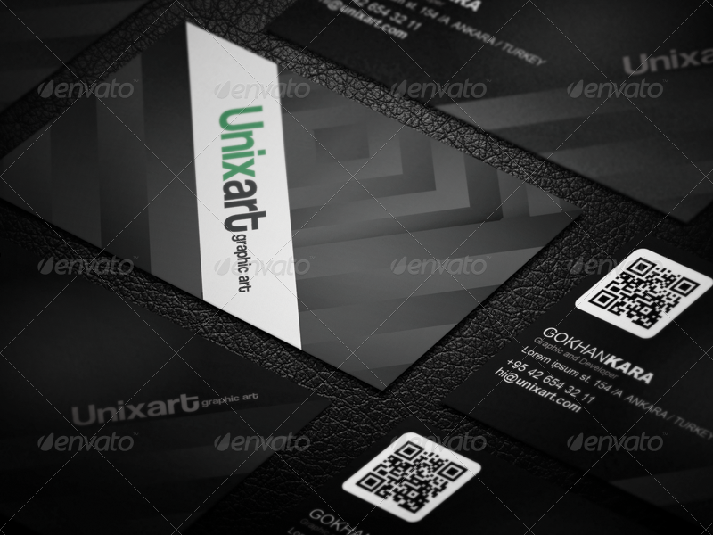 unixart graphic designer business card example