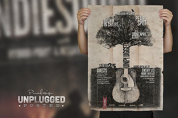 unplugged event poster example