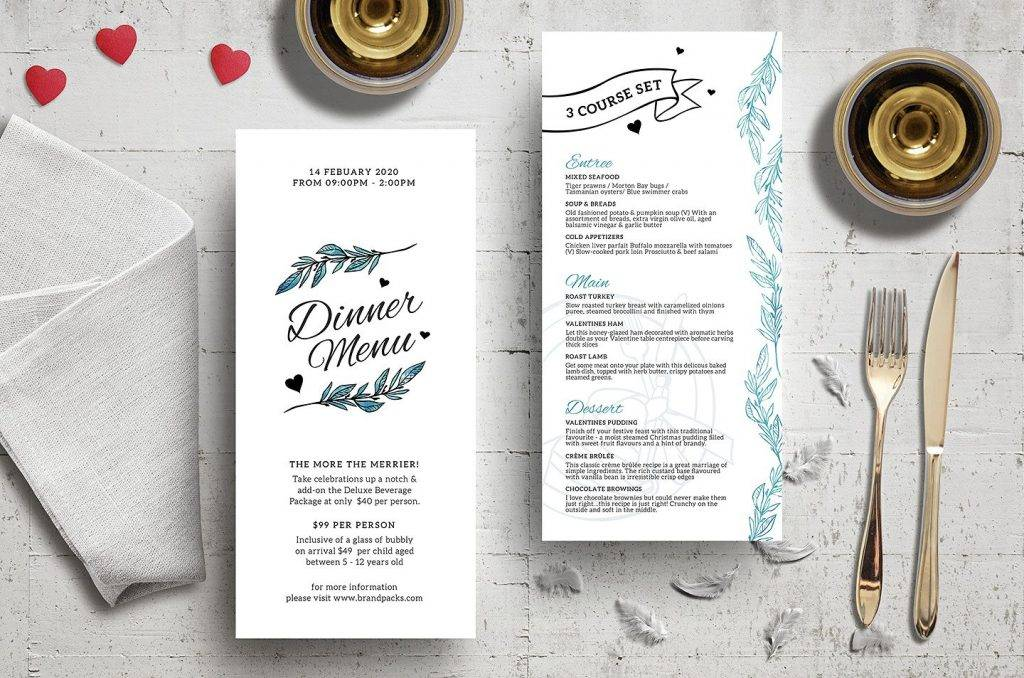 valentines event menu example 1024x678