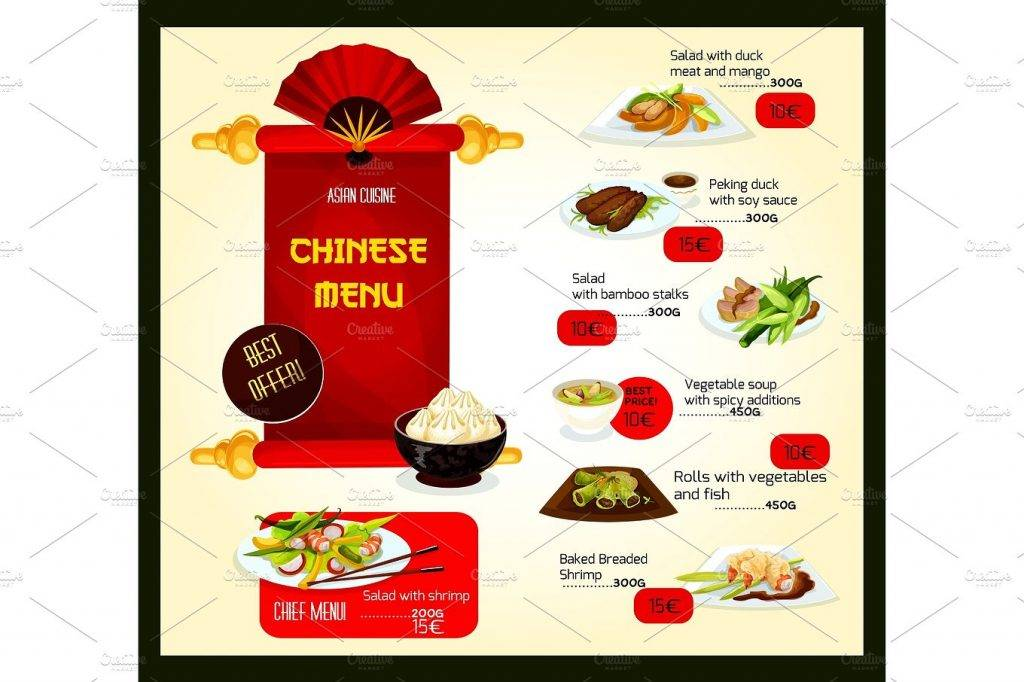 vector chinese cuisine restaurant example