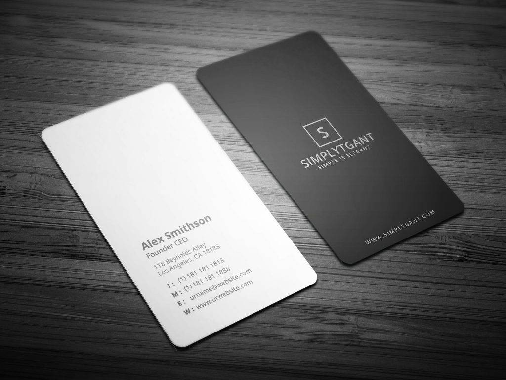 vertical founder ceo business card example