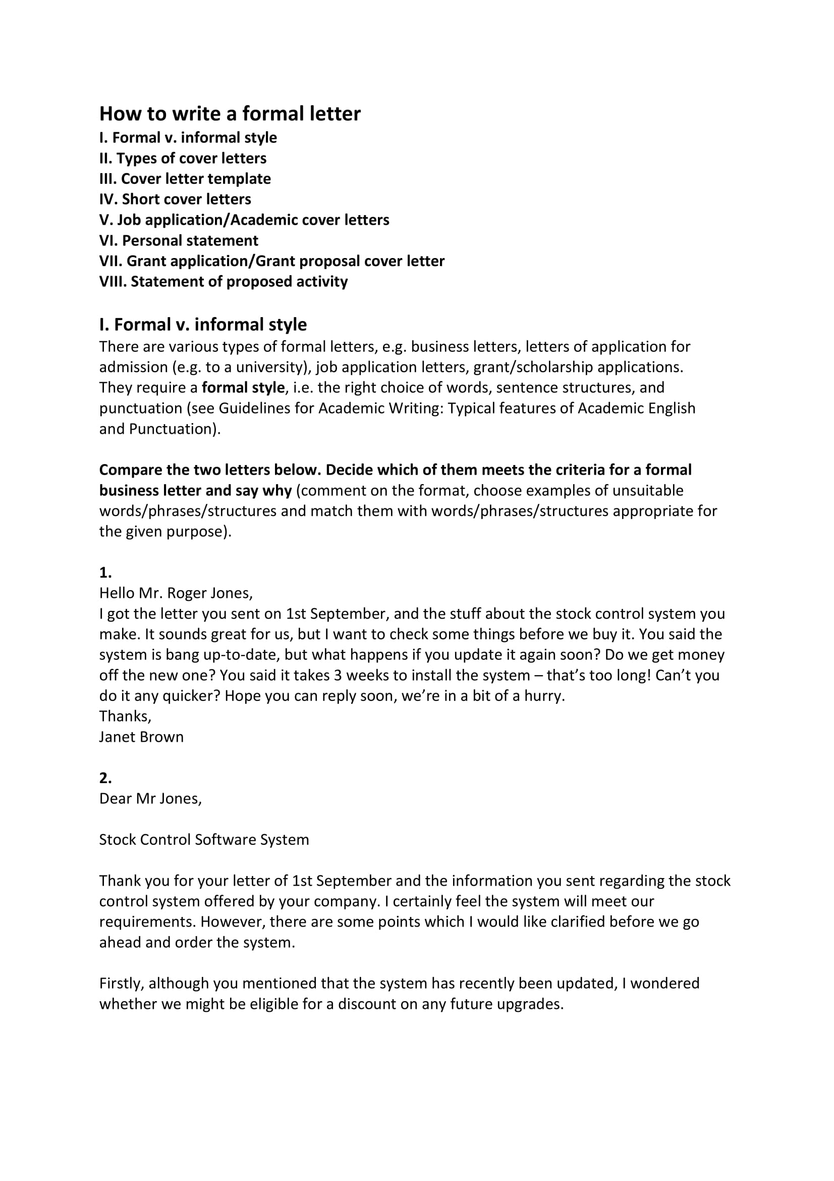 8  business formal letter examples