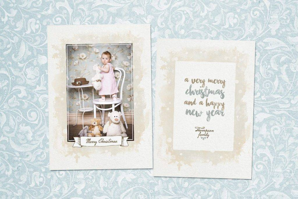 vintage baby photo card example