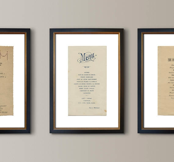vintage french brasserie menu example