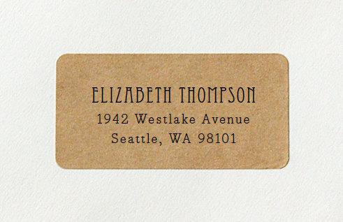 vintage return address label examples