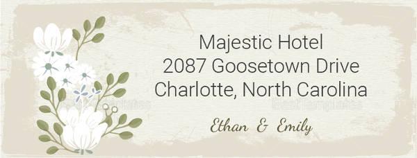 vintage wedding address labels card example