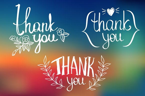 vivid thank you card example