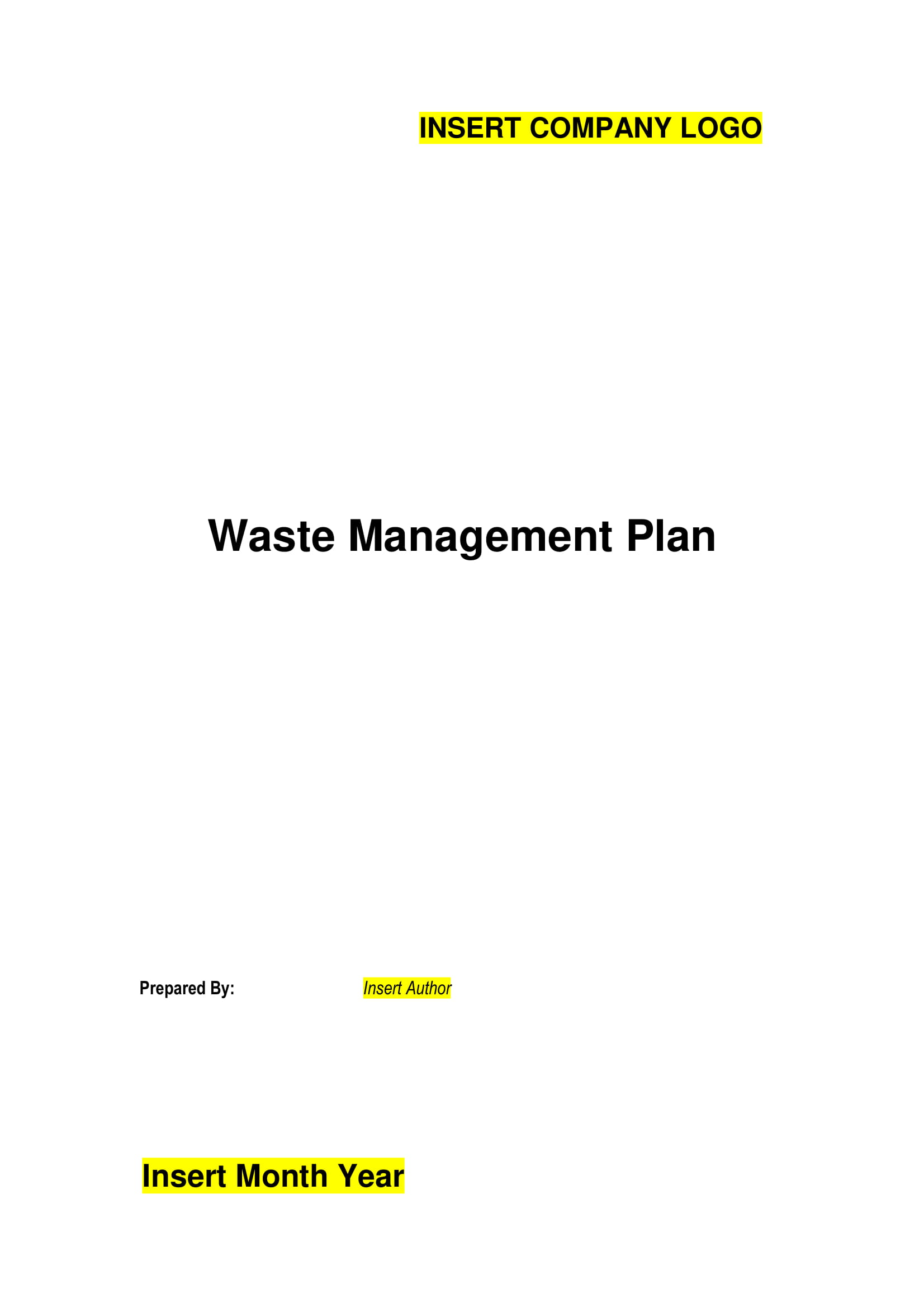 waste management plan template 01