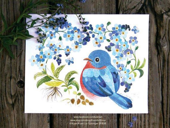 watercolor graduation postcard example
