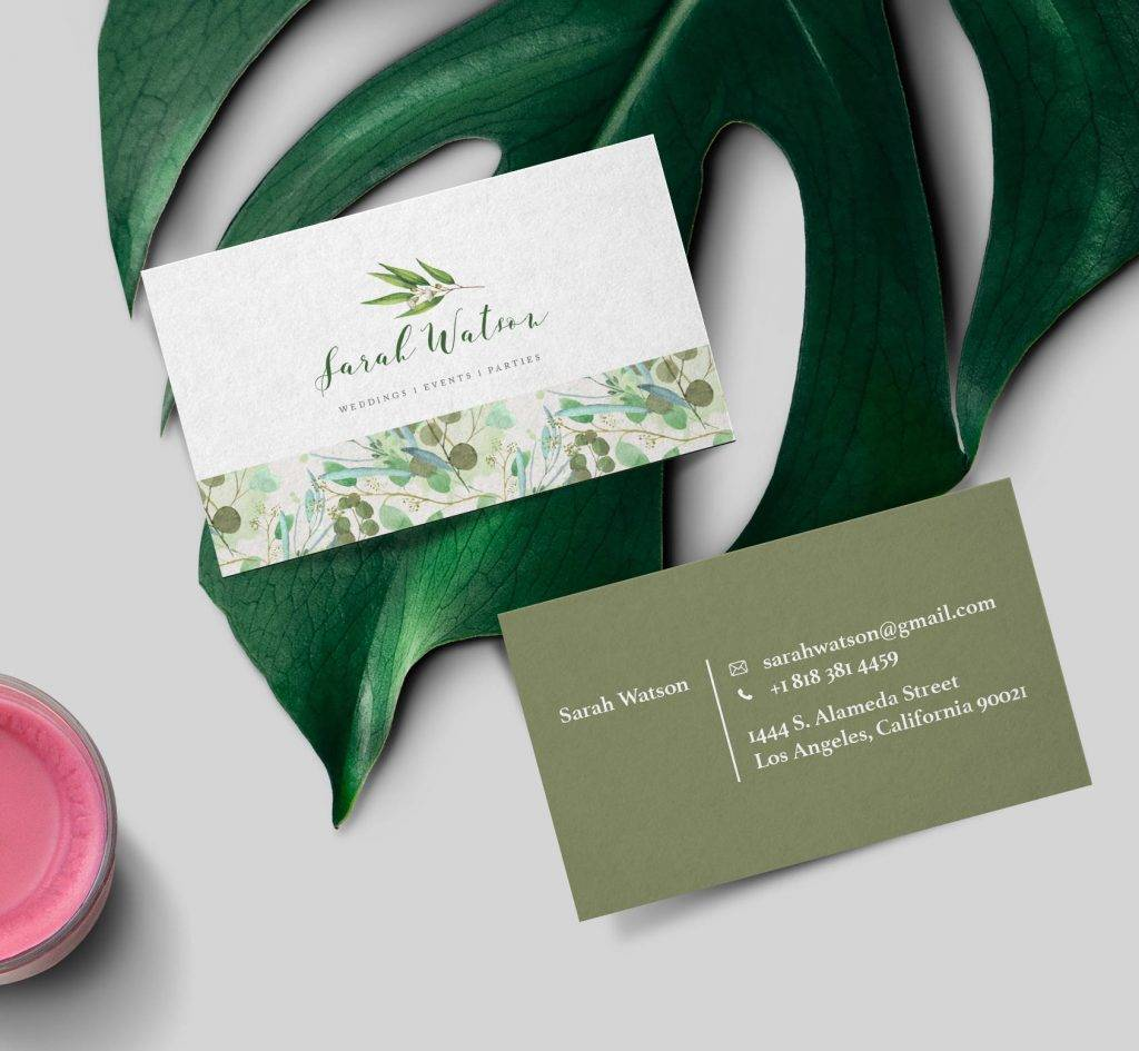 watercolor luxury business card example 1024x945