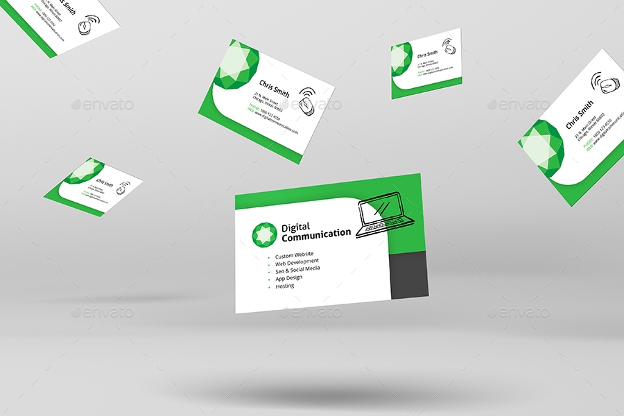 web design service business card template