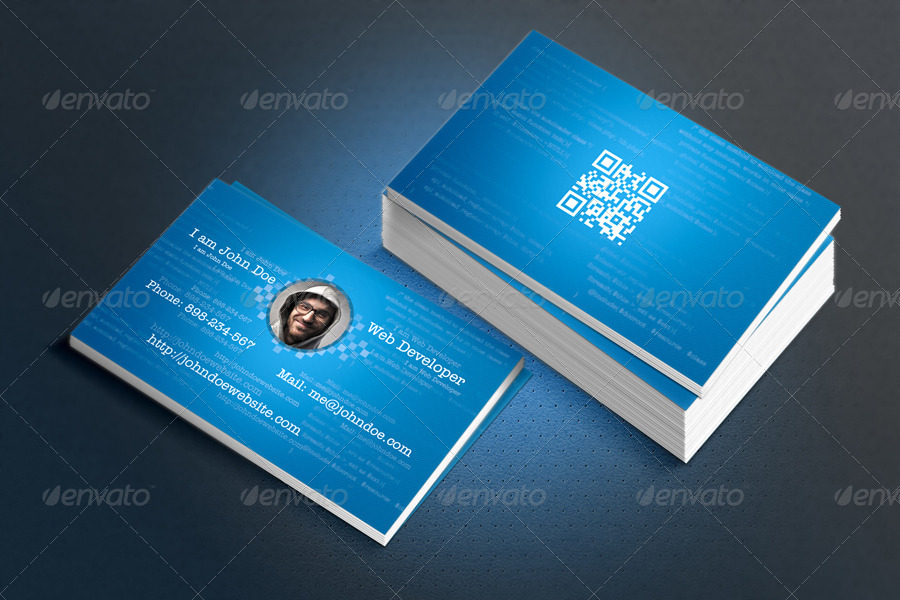 web developer business card example