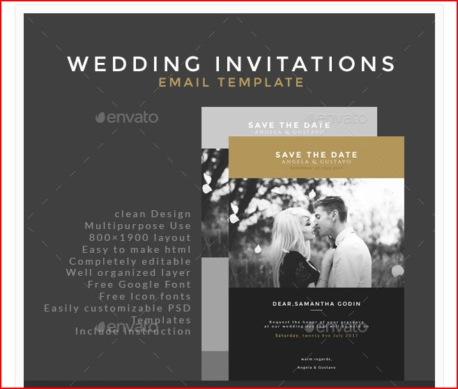 9 email invitation designs examples