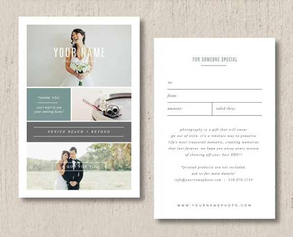 wedding gift card template