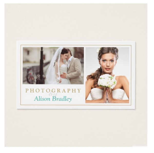 wedding photography studio business card example