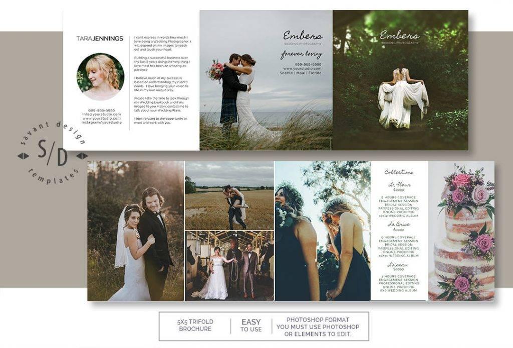wedding photography trifold marketing example