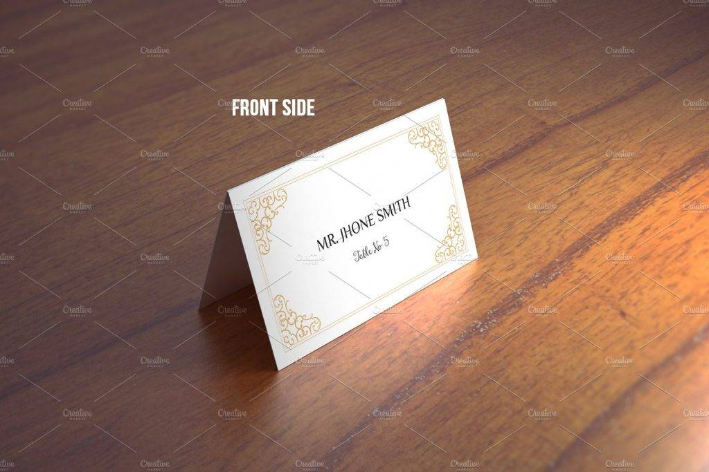 wedding place card template design