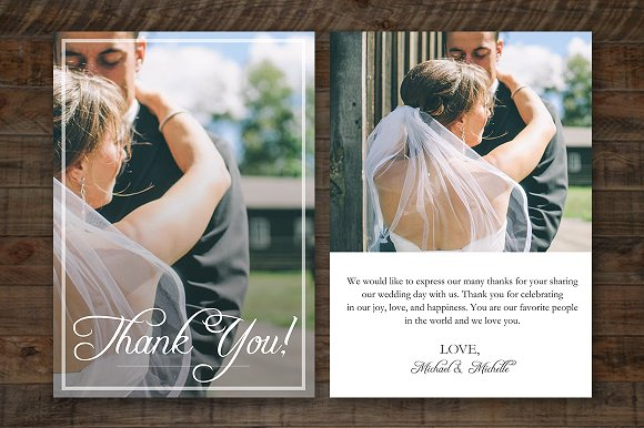 wedding thank you card psd template