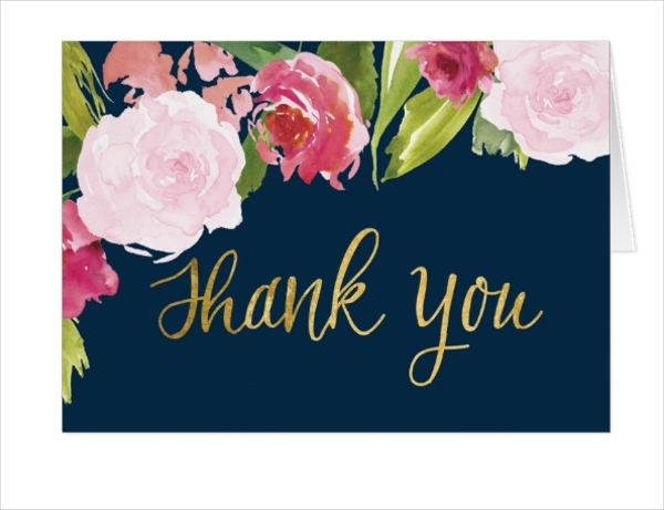 wedding thank you note card
