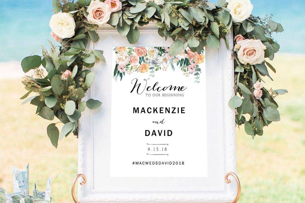 wedding welcome signage design example 1024x681