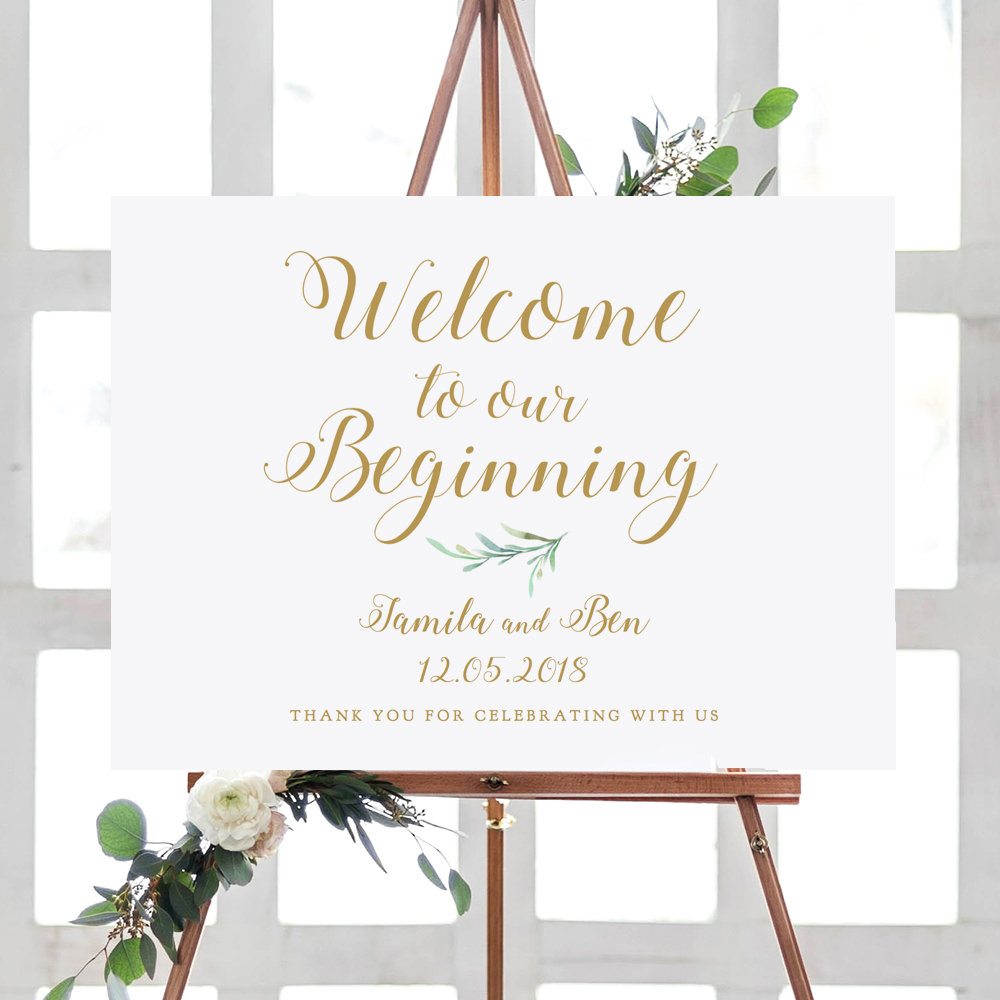 wedding welcome signange design example