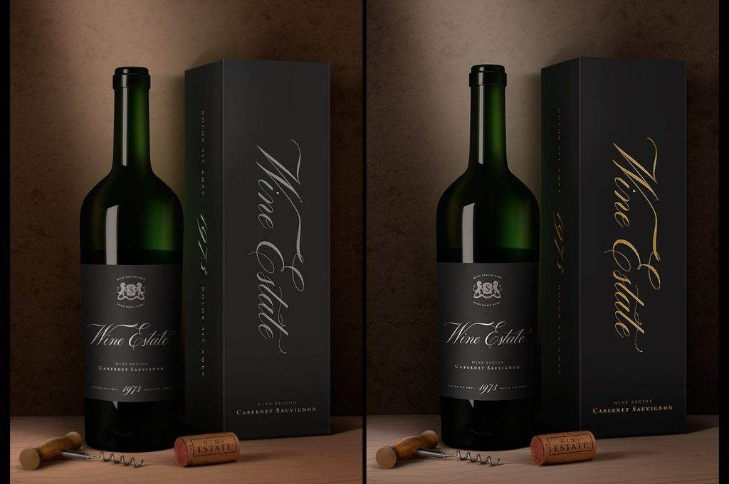 wine estate wine bottle design example