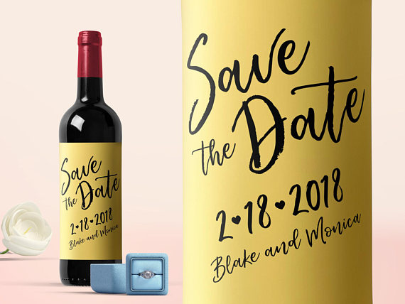 wine save the date label example
