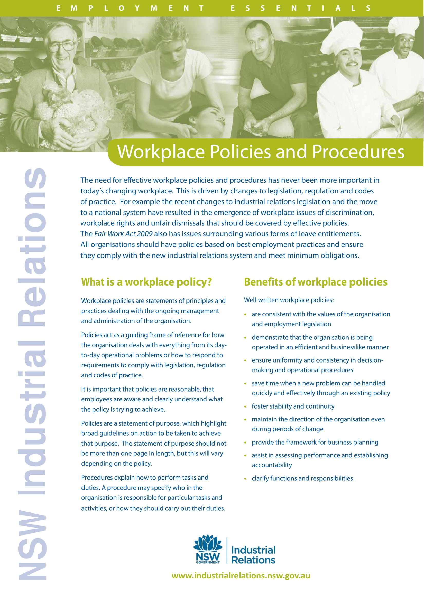 workplace rules policies and procedures example