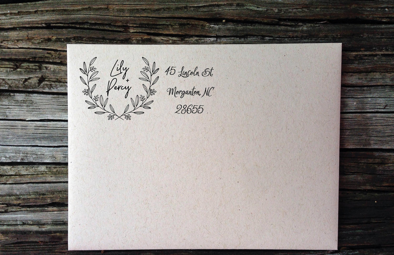 wreath return address label example