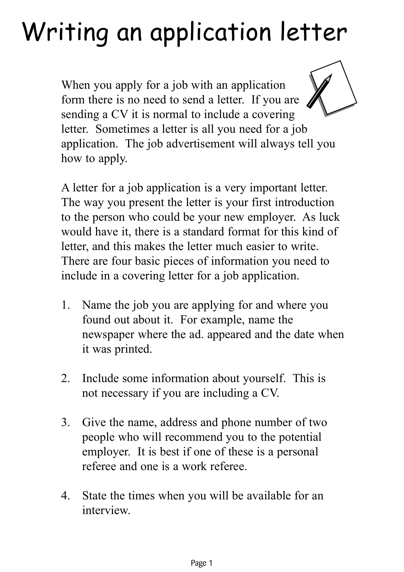 Writing-application-letter-1 Job Application Letter on claim and complaint letter, cover letter, recommendation letter, example written, thank you letter, reference letter, best example nursing, sales letter, written form, resignation letter, adjustment letter, order letter,