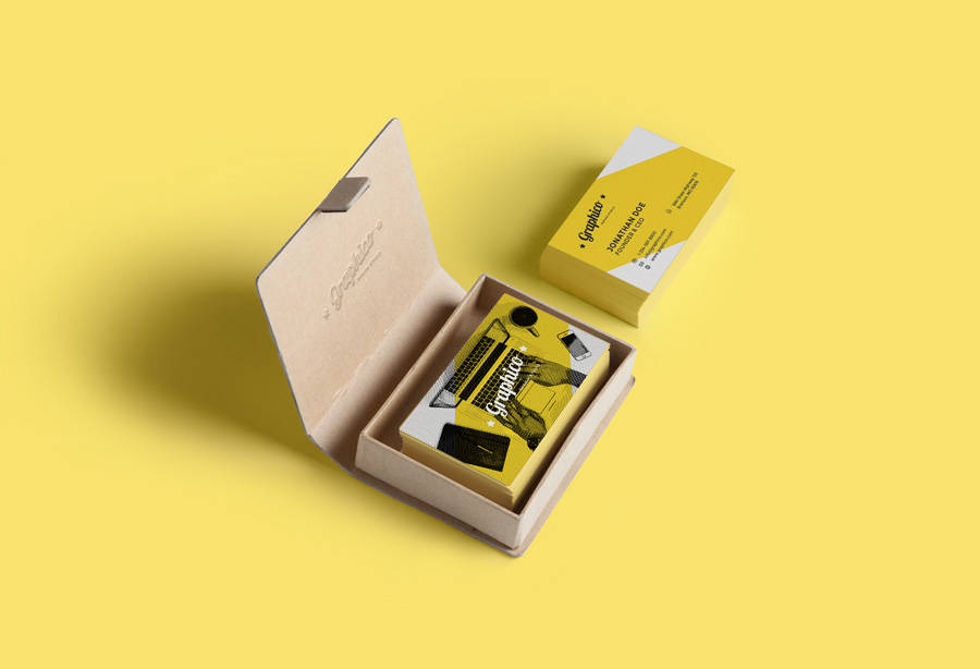 yellow business card example