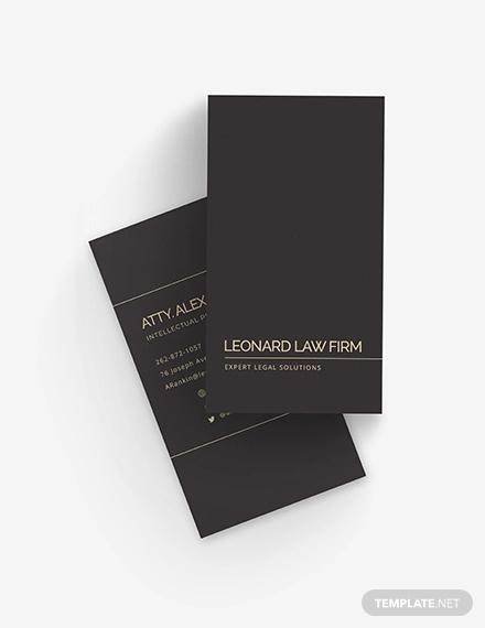 chalkboard lawyer business card
