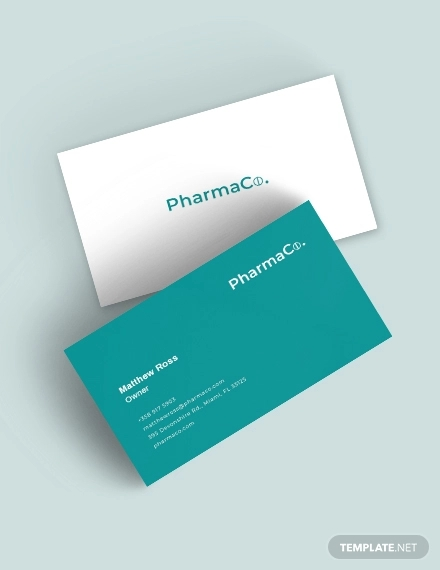 clean pharmacy business card