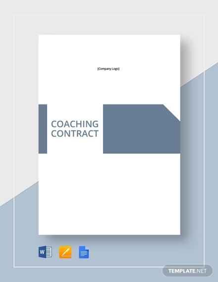 coaching contract