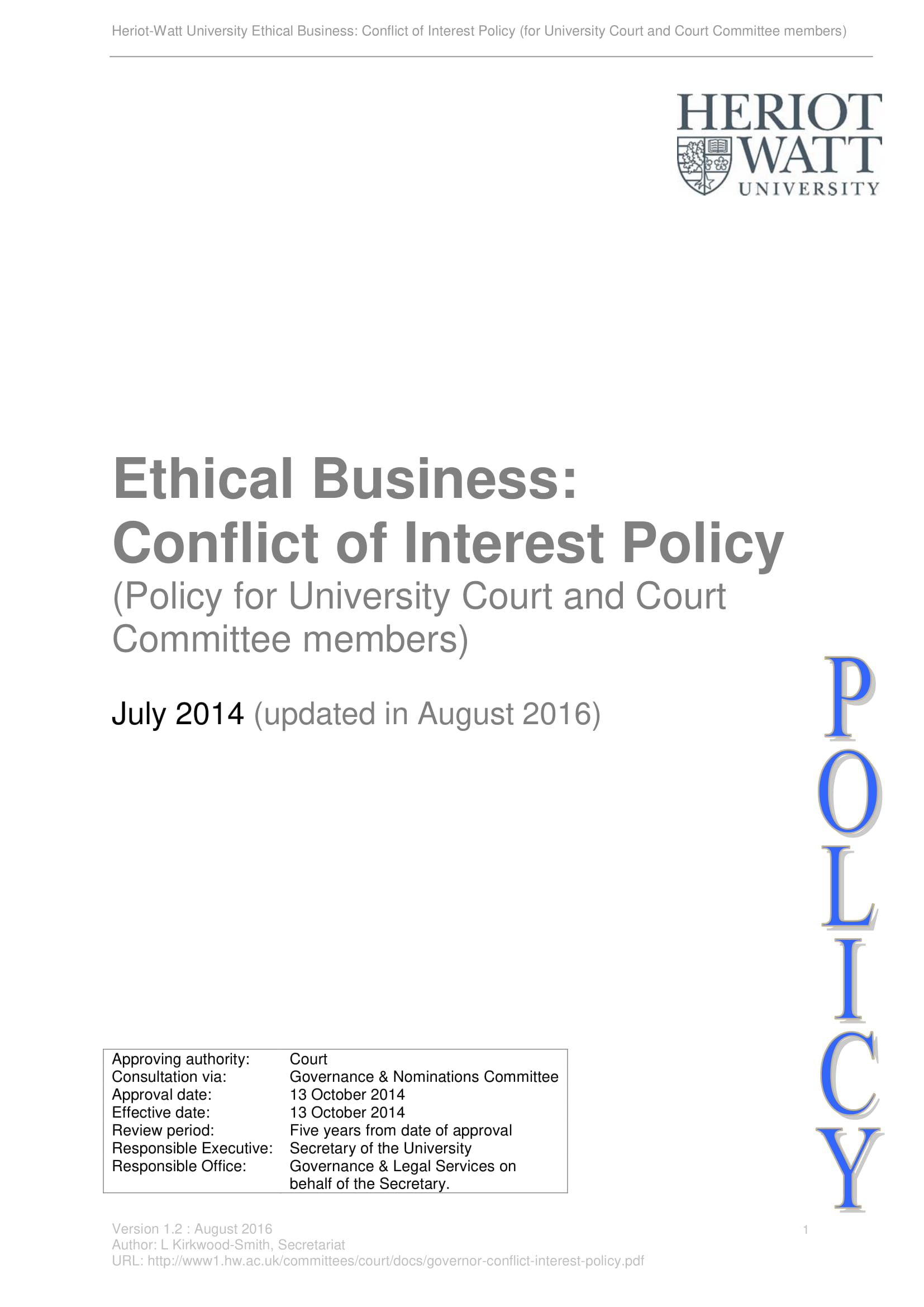 14+ Conflict of Interest Policy Examples - PDF
