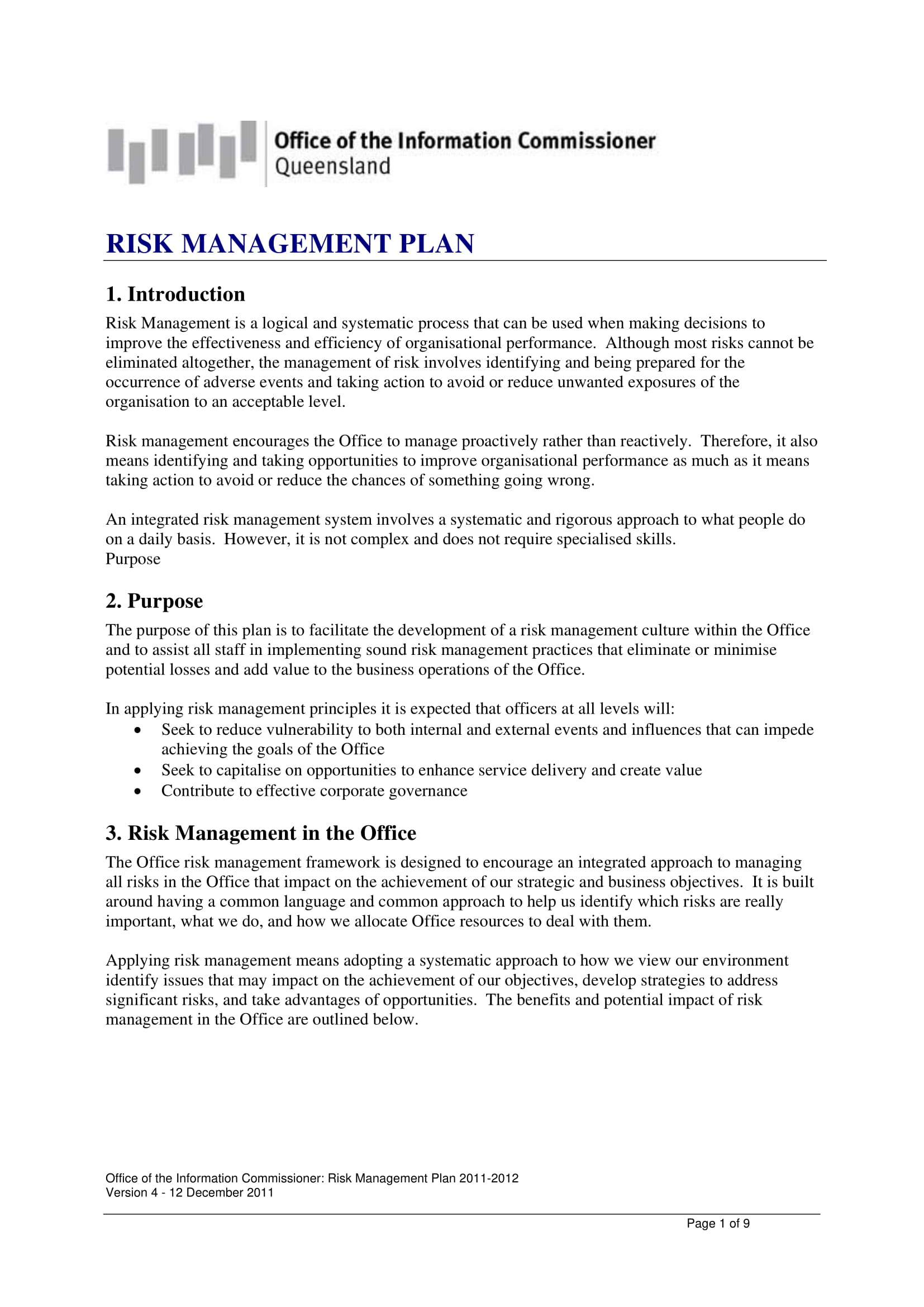 internal policy risk management plan 1