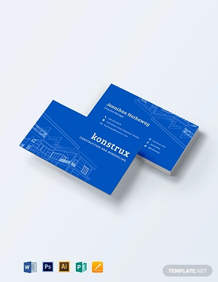 20 Construction Business Card Designs And Examples Psd Ai Examples,Principles Of Design Pattern Images