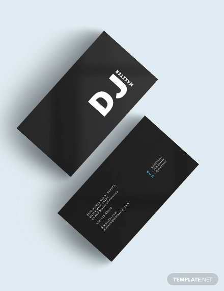 modern dj business card2