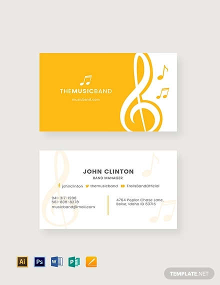 music band business card
