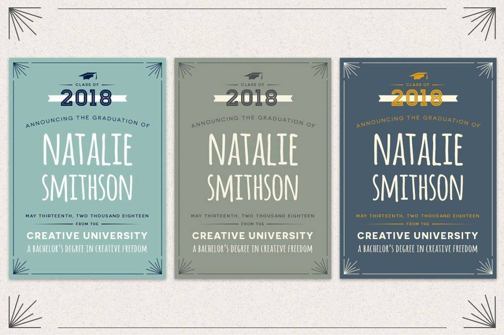 3 pack graduation announcement flyer example