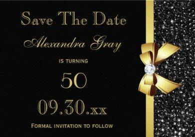 50th birthday save the date design example