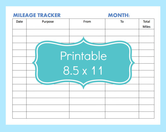 image about Printable Mileage Log titled 26+ Printable Mileage Log Illustrations - PDF Illustrations