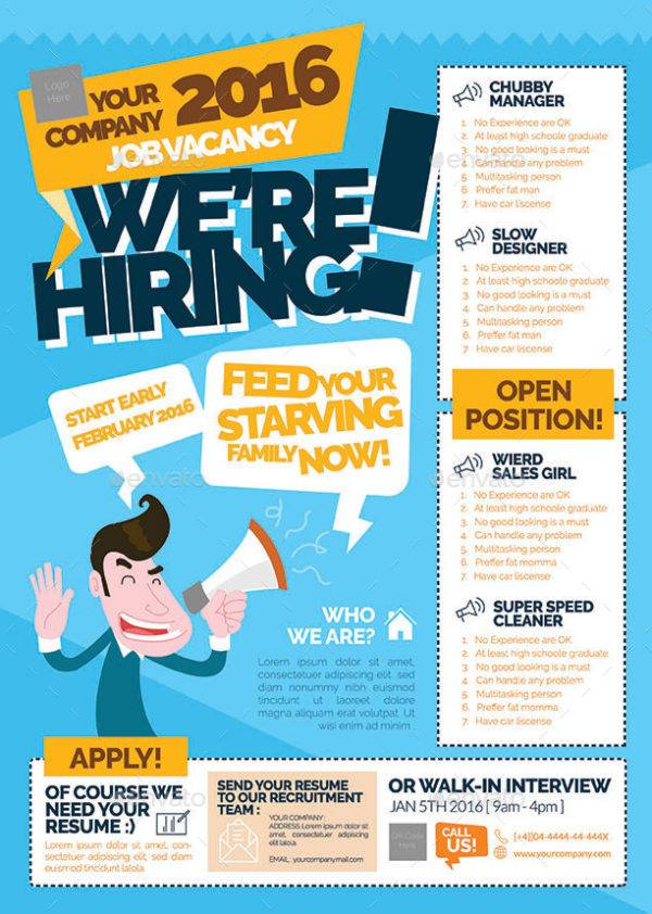 example advertisement job vacancy