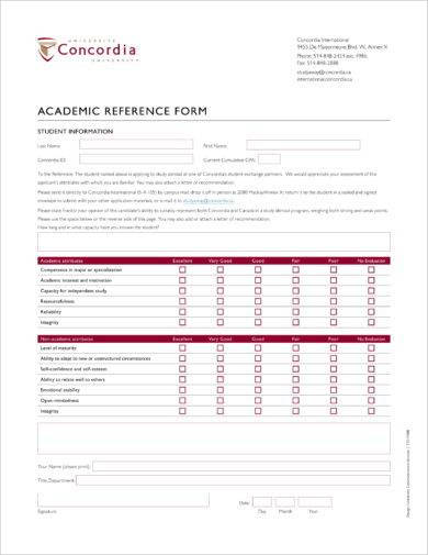 academic reference form example1